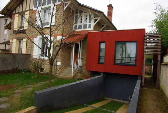 Maison pen for Extension bois 2 niveaux